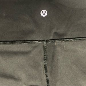 NWOT Lululemon Wunder Under Crop - Army Green